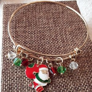 Jewelry - NEW Santa III  Charm Bangle Bracelet